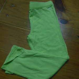 VINEYARD VINES Girls 14 yr Lime Capri Pima Cotton
